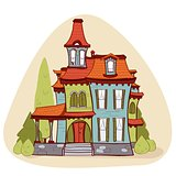 Cute  cartoon style house