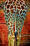 Tail of the Giraffe Abstract Neon