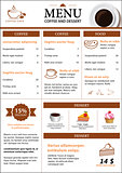 coffee and dessert menu flat design