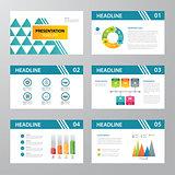 set of infographic presentation template flat design