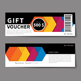 gift voucher discount template flat design