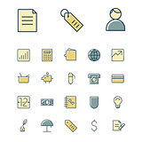 Thin line icons for business, finance and banking