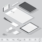 Isometric corporate identity template