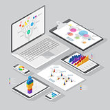 Isometric infographics design elements