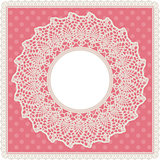 Round lace doily background