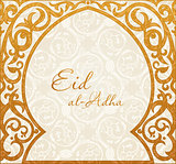 Feast of the Sacrifice greeting vector background. Muslim design