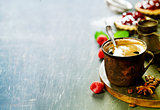 Coffe with Fruit dessert