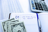 writing down in the notebook about a debt