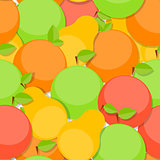 Seamless Pattern Background from Apple, Orange and Pear  Vector
