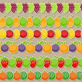 Seamless Pattern Background from Apple, Orange, Plum, Cherry