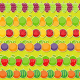 Seamless Pattern Background from Apple, Orange, Plum, Cherry