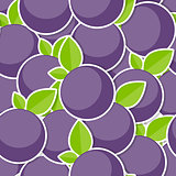 Seamless Pattern Background from Berrys Vector Illustration