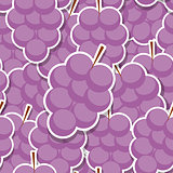 Seamless Pattern Background from Grapes. Vector Illustration