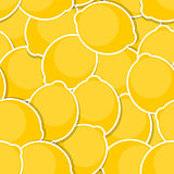 Seamless Pattern Background from Lemon Vector Illustration