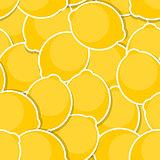 Seamless Pattern Background from Lemon Vector Illustration
