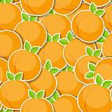 Seamless Pattern Background from Peach Vector Illustration