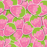 Seamless Pattern Background from Strawberry Vector Illustration