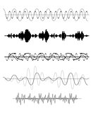Set of Sound Wave. Vector Illustration.