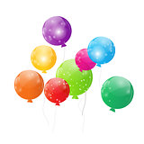 Color Glossy Balloons Background Vector Illustration
