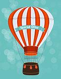 Air Balloon Background Vector Illustration