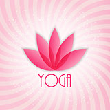 Lotus Flower Sign for Wellness, Spa and Yoga. Vector Illustratio