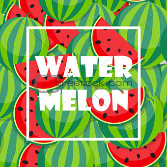 Background from Watermelon. Vector Illustration
