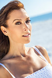 Beautiful Middle Aged Woman On A Beach