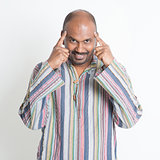 Thoughtful Indian man