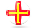 Round icon with flag of guernsey