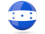 Round icon with flag of honduras