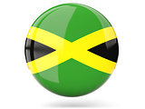 Round icon with flag of jamaica