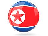 Round icon with flag of korea north