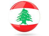 Round icon with flag of lebanon