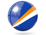Round icon with flag of marshall islands