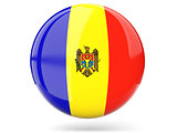 Round icon with flag of moldova