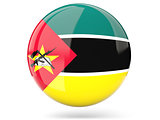 Round icon with flag of mozambique