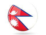 Round icon with flag of nepal