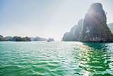 Boats and Islands in Halong Bay, Northern Vietnam