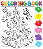 Coloring book Christmas tree topic 4