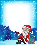 Frame with Santa Claus theme 6