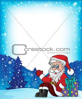 Frame with Santa Claus theme 6