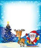 Frame with Santa Claus theme 7