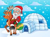 Igloo with Santa Claus theme 2