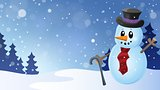 Winter snowman topic image 6