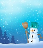 Winter snowman topic image 7