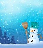 Winter snowman topic image 7