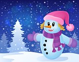 Winter snowwoman topic image 3