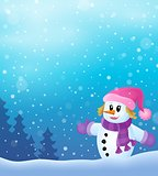 Winter snowwoman topic image 4