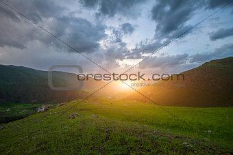 Caucasian mountains in Georgia