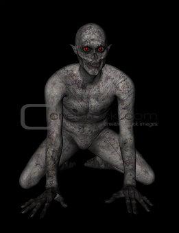 3D demonic figure